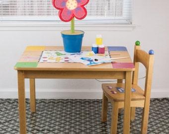 "Splat Mat/Tablecloth ""Smoke Blanket"" - Laminated Cotton BPA  & PVC Free - Choose Your Size below!"