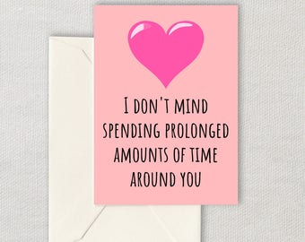 Cute Printable Valentine - Instant Download Card - Spending Time Around You - INTJ Valentine Card - Antisocial Valentine's Gift