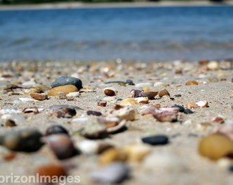 Beach Pebbles Close Up Photo 8 X 10