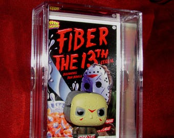 """Friday the 13th""""Jason Voorhees collectible Mini Dude display""""(Look how Small He is!! Not So Tuff!!!!!)"""