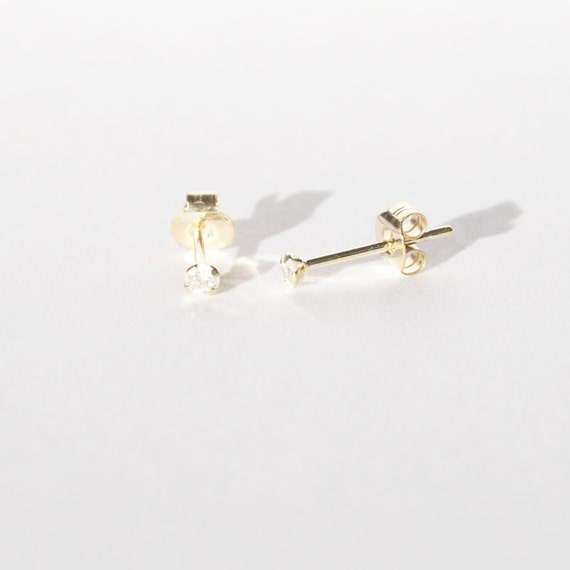 9ct gold tiny diamond studs diamonds stud earrings