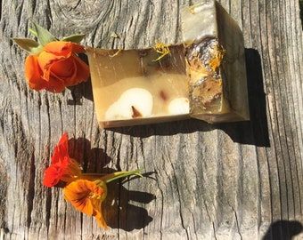Rose and nasturtium soap