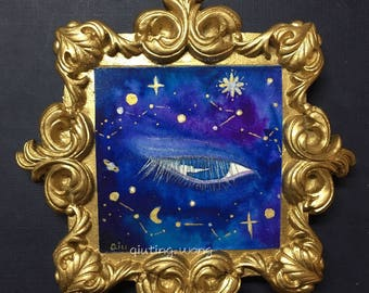 Galaxy in my eye---Original painting from QiutingWang