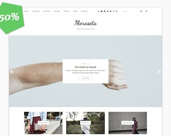 50% - Moroseta - Blog & Shop WP Theme - Premade - WooCommerce - Self Hosted - Wordpress Blog Theme - Responsive