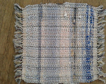 Blue hand woven placemats