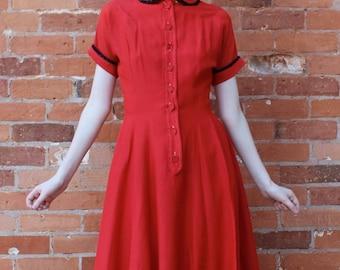 Kaytron Vintage 1950s Day Dress