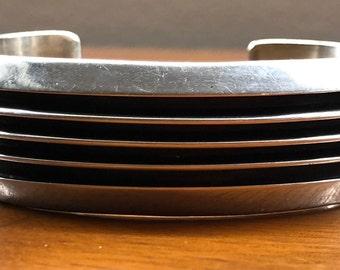 Tom Hawk  ( Navajo )  sterling silver cuff bracelet, modernist, minimalist, contemporary, Native American, Southwestern --- 59 grams