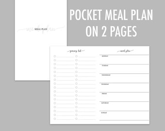 Pocket TN Meal Plan on 2 Pages