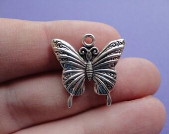 Butterfly Charm 10 pcs 25x23mm B012