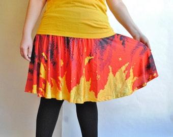 PREORDER - Pixel Fire Skater Skirt