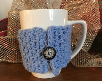 Light Blue Christmas Cup Cozy