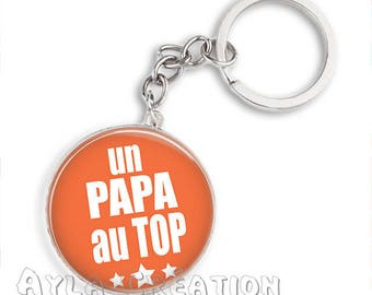 Cabochons glass 25mm #PA_ME016 dad keychain