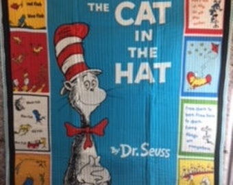 Dr. Seuss, Cat in the Hat, One Fish Crib/Toddler Quilt