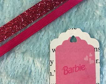 Upcycled Barbie Gift Tags and Ribbon