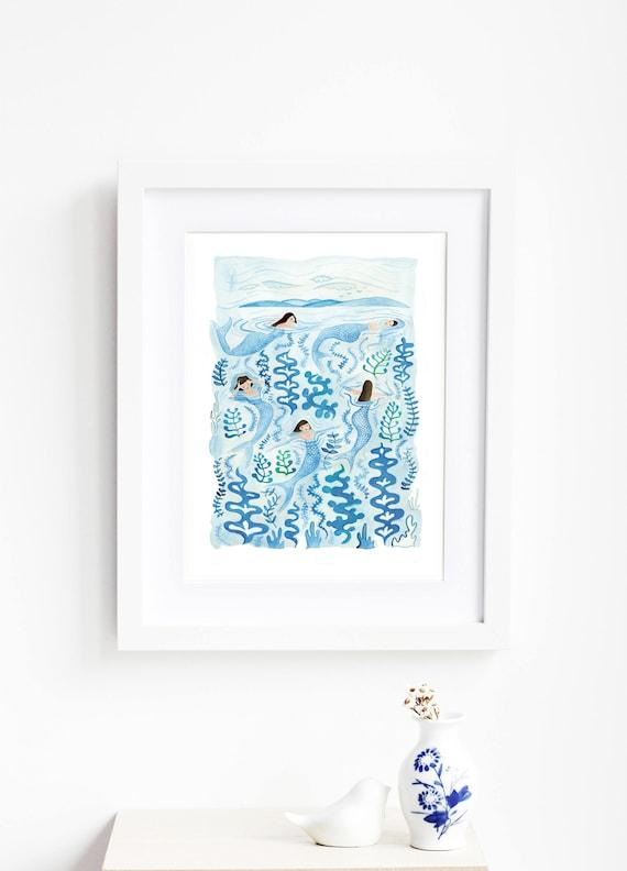 SALE! Mermaids Art Print