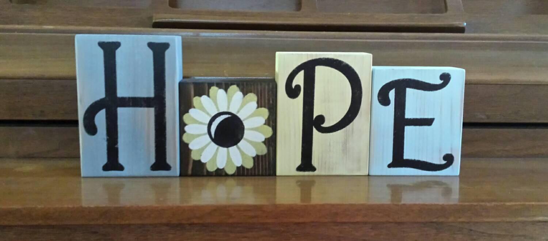 Perfect Letter Blocks Decor | Wall Plate Design Ideas ON75