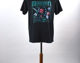 Vintage Montana Rocky Mountain Wildflower CompanyT-shirt / Made in the USA / Size Large / Excellent Condition