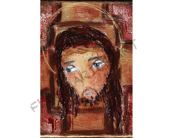 Jesus -  Print from Painting by FLOR LARIOS (6 x 9 INCHES)