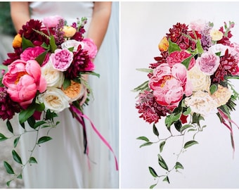 CUSTOM Wedding and special Occasion flower bouquet FREE SHIPPING