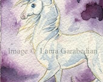 Moonlit Unicorn ACEO Giclee Print