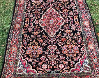 Persian Antique Malayer Rug 4x7 beauty