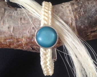 Horsehair bracelet with scroll beading