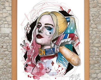 Harley Quinn (Suicide Squad Edition) Watercolor Artprint