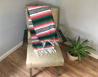 Pink and Green Mexican Blanket