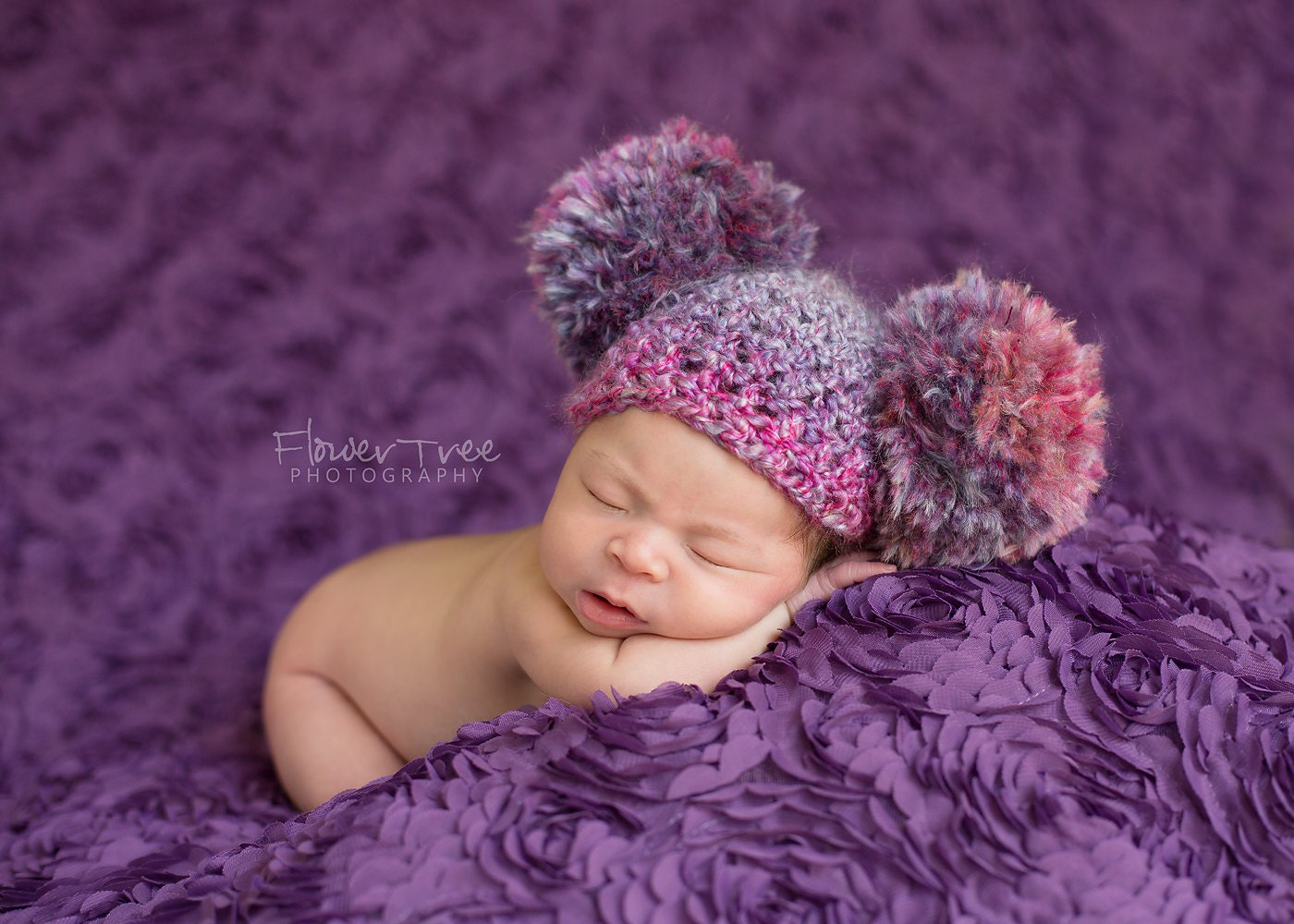 how to make a baby hat pom pom poms