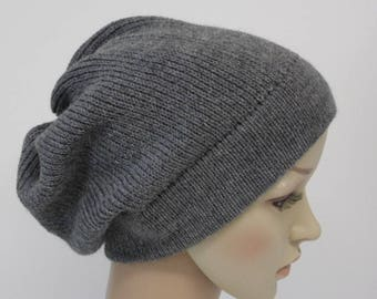 Knitted beanie, winter hat for women, slouchy beanie hat, handmade beanie, slouch hat, knitted from alpaca/lambswool/polyamide blend