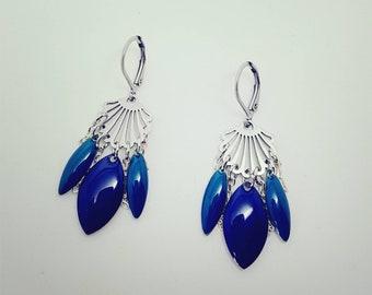 Blue doreilels steel rings
