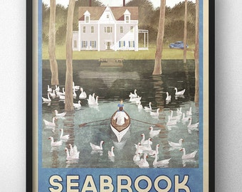 The Notebook Movie - Vintage Travel Poster of Seabrook, South Carolina