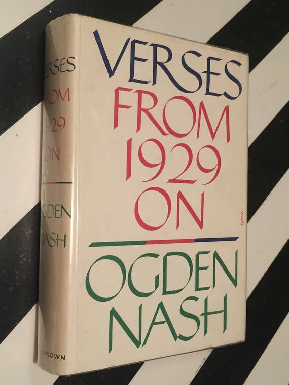Verses from 1929 On by Ogeden Nash (1959) hardcover book