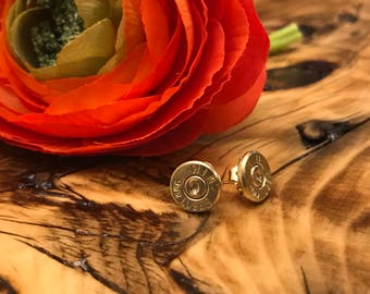 9mm Bullet Stud Earrings
