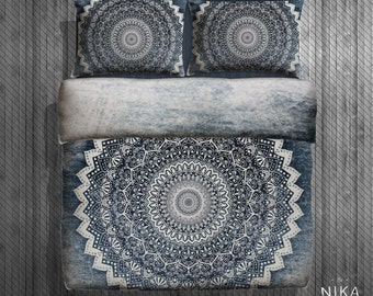 COLD WINTER MANDALA - Boho Duvet Cover