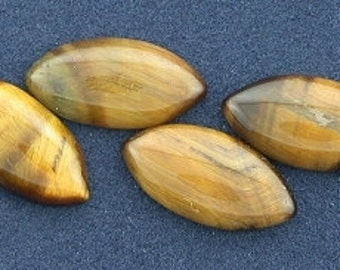 four 13x6 marquisetigereye cabochon gem stone gemstone