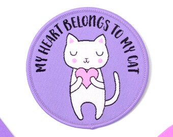 Iron On Patch - Cat Iron-On Embroidered Patch - Iron-On - Sew On Patches