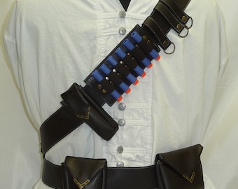 Bandolier / Utility Belt System for Steampunk Adventurers Faux Leather