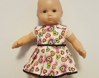 Bitty Baby Bitty Twin Doll Clothes - Hearts Dress