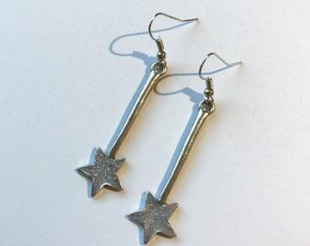 Fairy wand earrings. Fairy earrings. Fairy jewelry. Fairy Godmother Jewelry. Magic wand earrings. Fairy tale Jewelry. Princess Inspired.