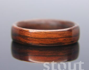 Bentwood Ring - Kingwood Wooden Ring - Handcrafted Wood Wedding Ring - Custom Made Wood Band