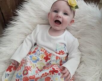 Single flower   Baby bloom peony felt  headband   felt flower crown   baby headband   toddler flower crown   newborn headband