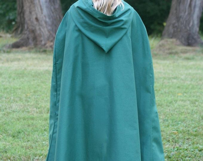 Dark Green Cloak, Youth, Hooded