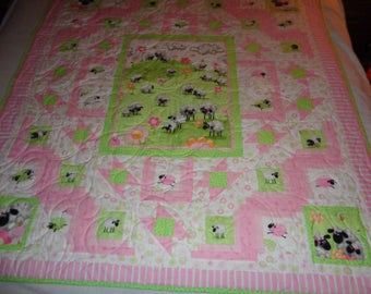 Had a Little Lamb baby quilt