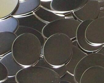 Nickel Silver Ovals - 20 gauge, stamping blanks, metal blanks, oval blanks, Bopper, metal working blanks, silver substitute blanks