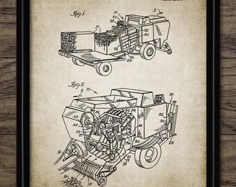 Crop Bailer Patent Print - 1993 Crop Bailer Design - Farming Poster - Ranch Decor - Farming Art - Single Print #1922 - INSTANT DOWNLOAD