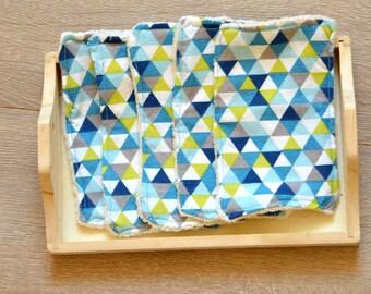 5 washable rectangles oeko-tex and organic cotton. Zero - waste, wipe, washcloth.