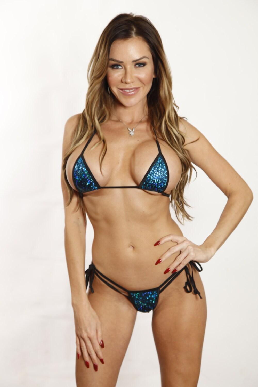 Blue Sparkly Bikini