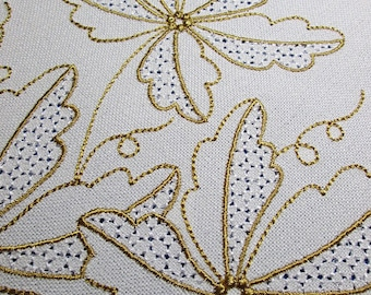 Leaves wingneedlework - MACHINE EMBROIDERY DESIGN