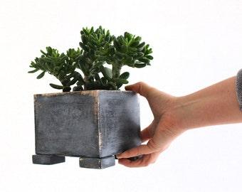 Wooden herb planter, Windowsill Flowerpot, Box for Herbs, Handmade box, Planter box, Indoor garden, Succulent planter, Summer home decor